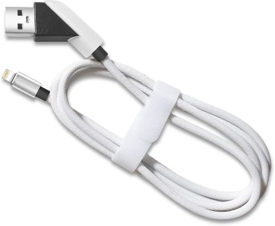 Vikeko 3ft-Nylon Braided Flow Lightning Cable(Compatible with Apple Iphone, White, Sync and Charge Cable) at flipkart