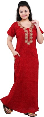 Mahaarani Women Nighty(Red)