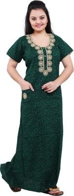 Mahaarani Women Nighty(Green)