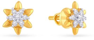 Malabar Gold and Diamonds AJEEAR3219 Yellow Gold 18kt Stud Earring