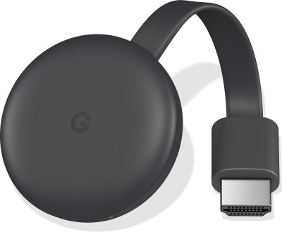Cast your  own media Google Chromecast 3 Media Streaming Device Now ₹3499