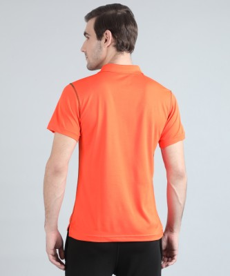 REEBOK Solid Men Polo Neck Orange T-Shirt