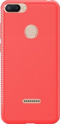 Flipkart SmartBuy Back Cover for Mi Redmi 6(Crimson Red, Grip Case, Rubber)
