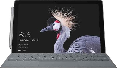 Microsoft Surface Pro Core m3 7th Gen - (4 GB/128 GB SSD/Windows 10 Pro) M1796 2 in 1 Laptop(12.3 inch, Silver, 0.77 kg)