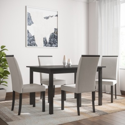 Flipkart Perfect Homes Arranmore Solid Wood 4 Seater Dining Set(Finish Color - Walnut)