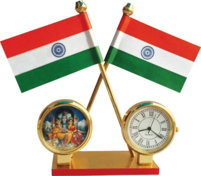 Adeal India Double Sided Wind Car Dashboard Flag Flag(Rayon)