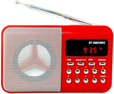OYD New Mini BT246 Portable Digital Radio FM support recording , usb pendrive, aux in FM Radio(Red)  available at flipkart for Rs.999