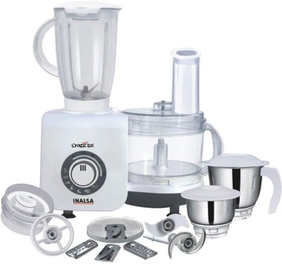Inalsa Craze Dx 700 W Food Processor(White, Grey)