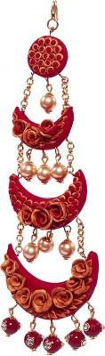 BellaYou HANDMADE POLYMER CLAY BRIDAL RED ROSE PASSA Hair Accessory Set(Red, Maroon, Gold)