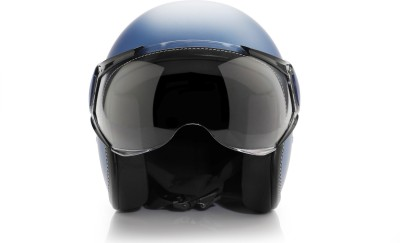 Vespa Colour Helmet Blue Motorbike Helmet(Blue)