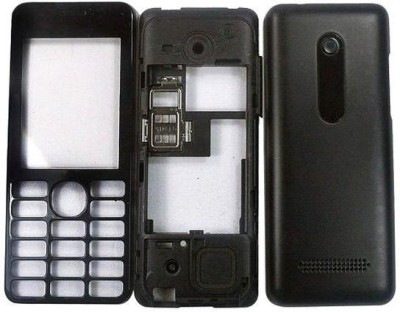 Richuzers Nokia Asha 206 Front & Back Panel(BLACK)