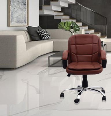DZYN Furnitures Leatherette Office Executive Chair(Brown)