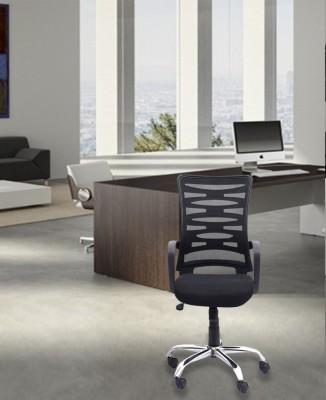 DZYN Furnitures Linen Office Executive Chair(Black)
