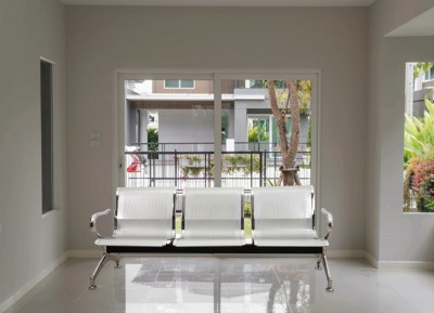 DZYN Furnitures Metal 3 Seater(Finish Color - Silver)