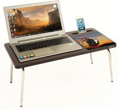 Bluewud Riodesk Ace Wood Portable Laptop Table(Finish Color - Wenge)