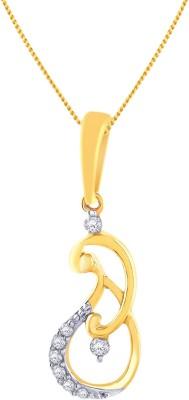 Malabar Gold and Diamonds P151520 18kt Diamond Yellow Gold Pendant Malabar Gold and Diamonds Pendants   Lockets