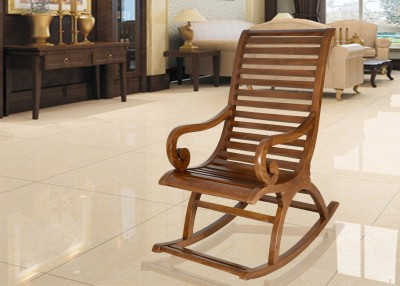 DZYN Furnitures Solid Wood 1 Seater Rocking Chairs(Finish Color - Multicolor)