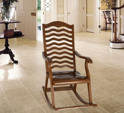 Vintej Home Sheesham Wood Solid Wood 1 Seater Rocking Chairs(Finish Color - Provincial Teak)