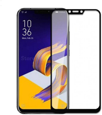 Classy Edge To Edge Tempered Glass for azus zenfone 5z full glue tempered glass, asus zenfone 5z full glue black(Pack of 1)