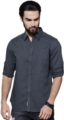 ROADSTER Men Solid Casual Blue Shirt ROADSTER Casual Shirts