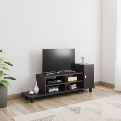 Home Full Engineered Wood TV Entertainment Unit(Finish Color - WENGE WITH FROSTY WHITE)