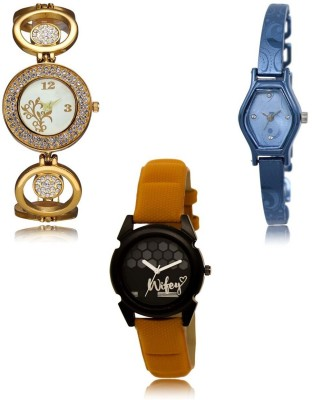 Acnos A Square Latest Designer Analog Combo Watches For Beautiful Charming Women Pack Of - 3 2557 Watch  - For Women
