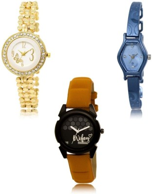 Acnos A Square Latest Designer Analog Combo Watches For Beautiful Charming Women Pack Of - 3 1962 Watch  - For Women