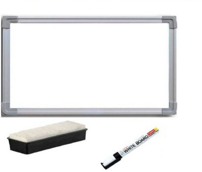 JS MART Non Magnetic Non magnetic Melamine Small Whiteboards and Duster Combos(Set of 1, White)
