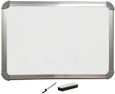 SHARRY DESIGNS Non Magnetic Non magnetic Melamine Small Whiteboards and Duster Combos(Set of 1, White)