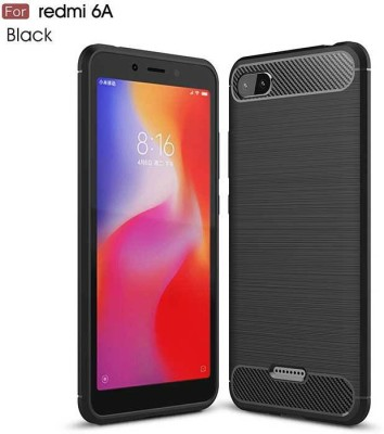 Spectacular Ace Back Cover for Mi Redmi 6A(Black, Dual Protection, Silicon)