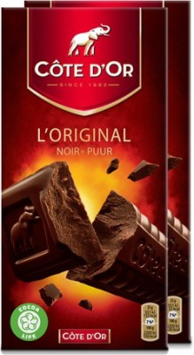 Cote D'Or Noir Puur Chocolate Bar 200g (Pack of 2) Bars(2 x 200 g) at flipkart