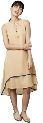 All About You Women A-line Beige Dress at flipkart
