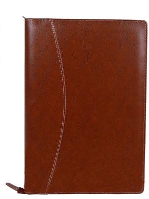 ZesTale Premium Leatherette Document Folder(Set Of 1, Brown)