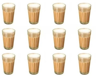 Satyam Kraft Traditional Indian Cutting Chai /Tea Style Experience Set Glass Set(Glass, 100, Clear, Pack of 12)