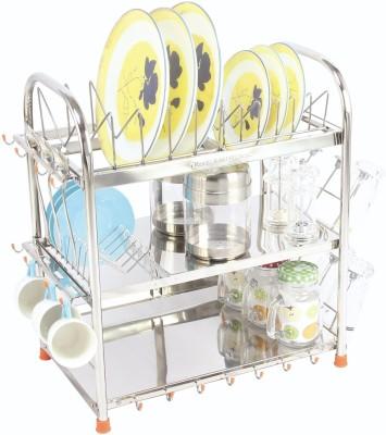 Amol Dish, Glasses & Utensils Rack Stainless Steel Kitchen Rack(Silver) at flipkart