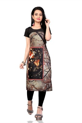 MARVADICOLLECTIONS Women's Printed A-line Kurta(Multicolor)