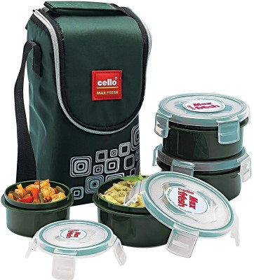 Cello CMF_CLICK4_GREEN 4 Containers Lunch Box
