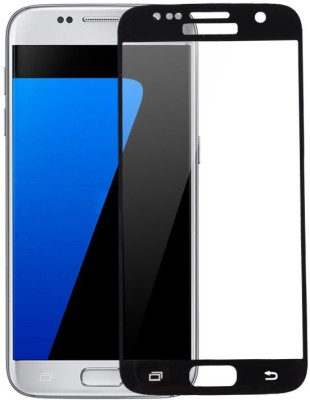 CHVTS Tempered Glass Guard for Samsung Galaxy S7 ,5D Glass, Full Glue, Black