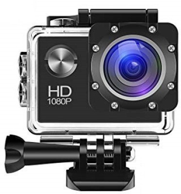 Spring Jump sports camera with Water proof case Sports and Action Camera(Black 12 MP) 1