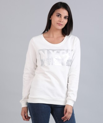 Flying Machine Full Sleeve Printed Women Sweatshirt at flipkart