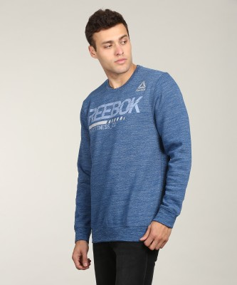 REEBOK Full Sleeve Printed Men Sweatshirt at flipkart