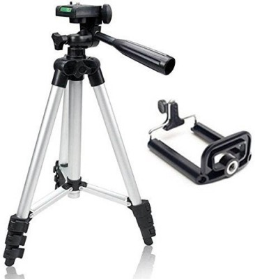 Spring Jump Tripod for Camera and Mobile Tripod Kit(Silver, Supports Up to 1500 g)