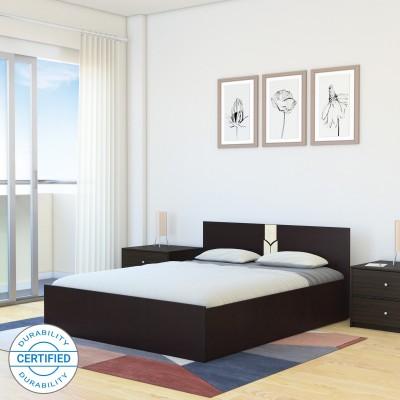 Flipkart Perfect Homes Rondo Engineered Wood Queen Box Bed(Finish Color -  Dark Wenge/Wenge)