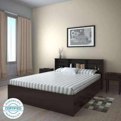Flipkart Perfect Homes Rhapsody Engineered Wood Queen Box Bed(Finish Color -  Wenge)