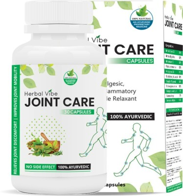 Herbal Vibe joint Care Capsule for Joint Pain Management - 100% Ayurvedic Capsules(30)