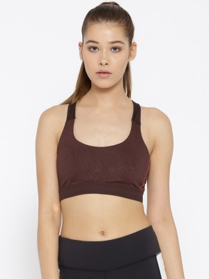 ADIDAS Women Sports Lightly Padded Bra(Red) at flipkart