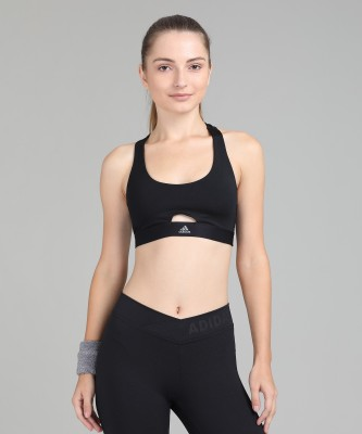 ADIDAS Women Sports Lightly Padded Bra(Black) at flipkart