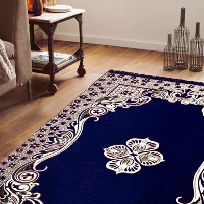Edifice Couture Blue Chenille Carpet(182 cm X 213 cm)