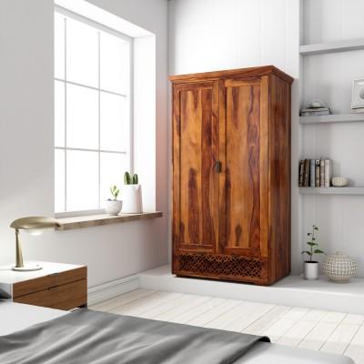 Flipkart Perfect Homes PureWood Sheesham Cupboard(Finish Color - Honey)