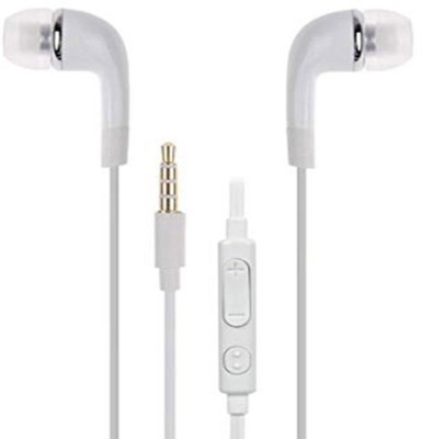 Gali Bazar SMEP30 Wired Headset with Mic(White, In the Ear)